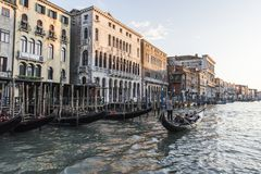 Канал большая Венеция Стоковые Изображения