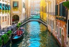 Канал в Венеции стоковая фотография rf