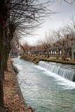 Канал в зиме Стоковые Фото