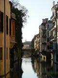Канал в Падуе, Италии Стоковое Фото