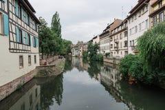 Канал в страсбурге, Франции Стоковые Изображения RF