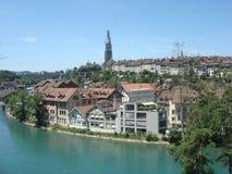 Канал в Bern, Швейцарии стоковое изображение rf