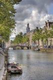 Канал в Leiden Стоковое фото RF