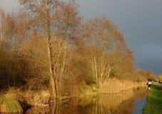 Канал Монтгомери в Уэльс Великобритании стоковые фото