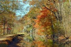 канал осени падает большой ландшафт Стоковое фото RF