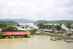 канал Панама Стоковые Изображения