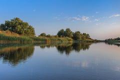 Канал реки стоковое изображение
