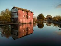 Канал соединения Шропшира в Эллесмере, Великобритании Стоковые Фото