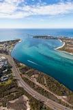 Канал Суонси - озеро Macquarie Новый Уэльс Австралия - Aer стоковые изображения rf
