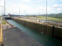 канал фиксирует Панаму Стоковое Изображение