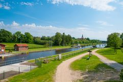 Канал Эльб-Любека в Германии Стоковые Изображения RF