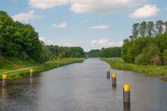 Канал Эльб-Любека в Германии Стоковое Изображение