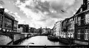 Канал Amsterdams Стоковые Изображения RF