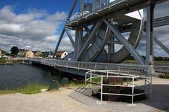 канал caen моста над pegasus Стоковое Изображение