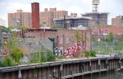 Канал Gowanus стоковые изображения rf