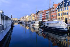 Канал Nihavn - Копенгаген Дания стоковые изображения rf