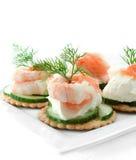 Канапе салата морепродуктов Стоковая Фотография RF
