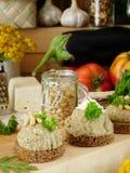 Канапе с pate мяса, рыб или овоща Стоковое Фото