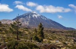 Канарские острова Испания El Teide Тенерифе вулкана облаков Стоковое фото RF