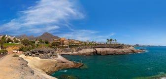 Канарские островы tenerife пляжа стоковые изображения rf