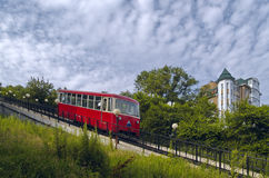 канатная железная дорога кареты Стоковое Изображение