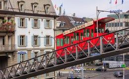 Канатная железная дорога Polybahn в Цюрихе, Швейцарии Стоковые Фото