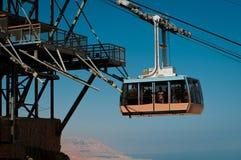 Канатная железная дорога в крепости Masada Стоковые Изображения RF