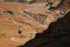 Канатная железная дорога в крепости Masada Стоковое Изображение RF