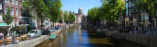 Канал Амстердама Стоковое Изображение RF