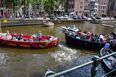 Канал Амстердама Стоковое Изображение