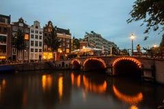 Канал Амстердама Стоковое Фото