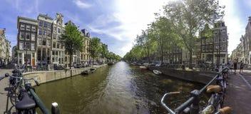 Канал Амстердам Стоковые Фотографии RF