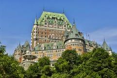 Канада, замок Frontenac в городе Квебека стоковые фото
