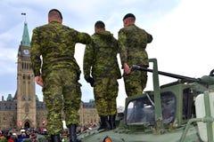 Канада удостаивает ветеранов которые служили в Афганистане Стоковое Изображение RF