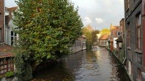Канал Бельгия Брюгге Стоковые Фото