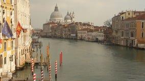 Канал Венеции грандиозный сток-видео