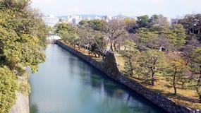 Канал вокруг замка nijo в Киото Японии Стоковые Фотографии RF