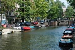 Канал в Амстердаме Стоковые Изображения RF