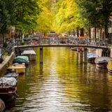 Канал в Амстердаме Стоковые Фото