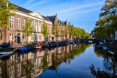 Канал в Амстердаме стоковые фотографии rf
