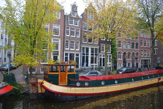 : Канал в Амстердаме Стоковые Фотографии RF