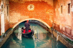 Канал в Венеции Стоковые Фото