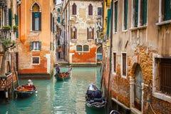 Канал в Венеции Стоковое Изображение