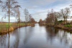 Канал в Meppel, Нидерланды Стоковая Фотография RF