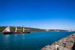 Канал Дурбан входа гавани корабля Стоковое фото RF