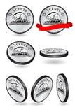 Канадец никель 5 центов иллюстрация штока