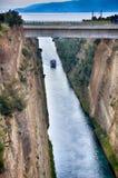 канал Коринф Греция Стоковая Фотография