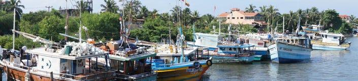 Канал моря Yhe в Negombo Стоковое фото RF