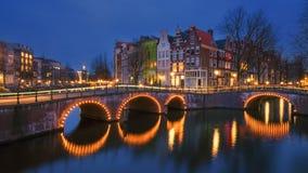 Канал на Амстердаме Стоковое Изображение RF