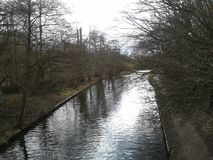 Канал на заповеднике парка Cassiobury Стоковые Фото